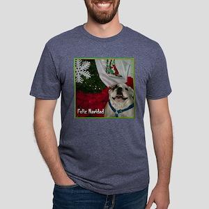 feliz navidadblgreen Mens Tri-blend T-Shirt
