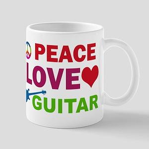 Peace Love Guitar Mug