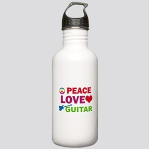 Peace Love Guitar Stainless Water Bottle 1.0L