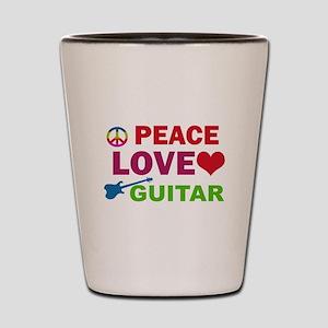 Peace Love Guitar Shot Glass