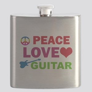 Peace Love Guitar Flask