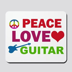 Peace Love Guitar Mousepad