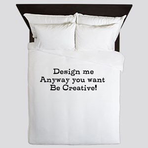 design me Queen Duvet