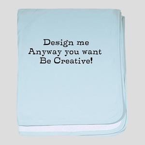 design me baby blanket