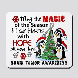 Holiday Penguins Brain Tumor Mousepad