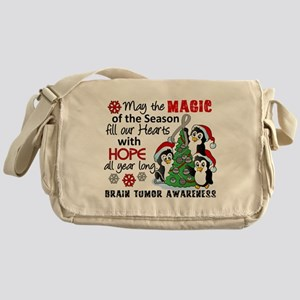 Holiday Penguins Brain Tumor Messenger Bag