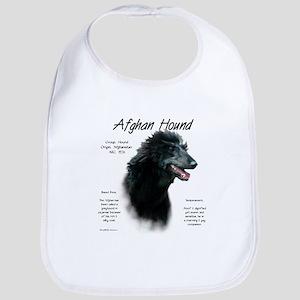 Afghan Hound (black) Cotton Baby Bib
