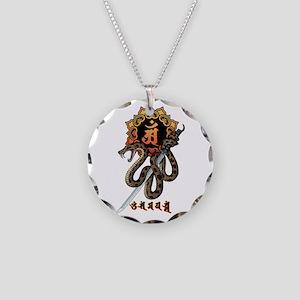Samantabhadra&Snake Necklace Circle Charm