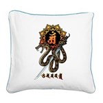Samantabhadra&Snake Square Canvas Pillow