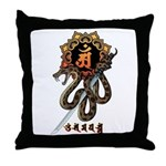 Samantabhadra&Snake Throw Pillow