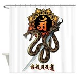 Samantabhadra&Snake Shower Curtain