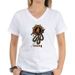 Samantabhadra&Snake Women's V-Neck T-Shirt