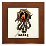 Samantabhadra&Snake Framed Tile