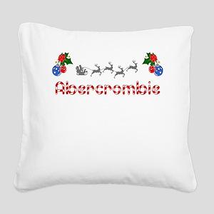 Abercrombie, Christmas Square Canvas Pillow