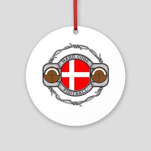 Denmark Football Ornament (Round)
