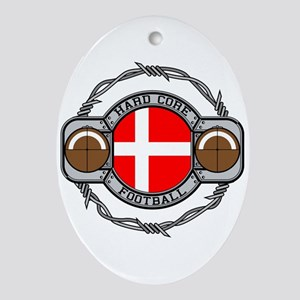 Denmark Football Oval Ornament