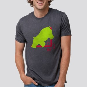 Hippopotenuse Mens Tri-blend T-Shirt