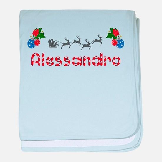 Alessandro, Christmas baby blanket