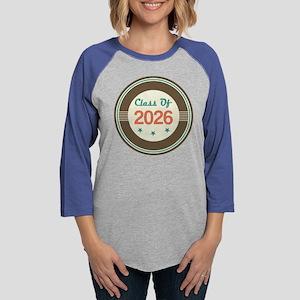 Vintage Class of 2026 School Womens Baseball Tee