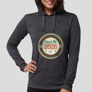 Vintage Class of 2026 School Womens Hooded Shirt