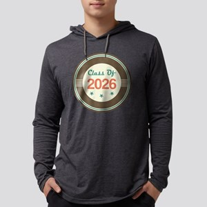 Vintage Class of 2026 School Mens Hooded Shirt