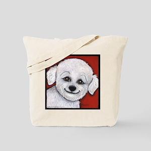 Bichon Frise Poodle Tote Bag