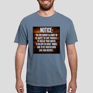Notice Mens Comfort Colors Shirt