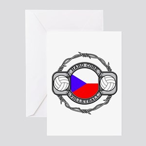 Czech Republic Volleyball Greeting Cards (Package