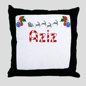 Aziz, Christmas Throw Pillow