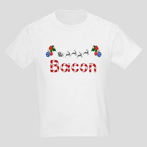 Bacon, Christmas Kids Light T-Shirt