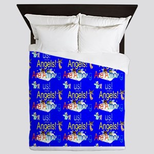 Angels are Among us Queen Duvet