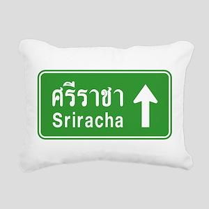 Sriracha Highway Sign Rectangular Canvas Pillow