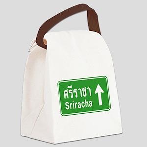 Sriracha Highway Sign Canvas Lunch Bag