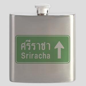 Sriracha Highway Sign Flask