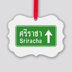 Sriracha Highway Sign Picture Ornament