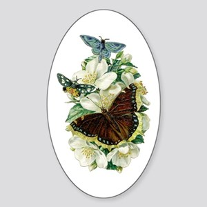 Velvet Bouquet Oval Sticker