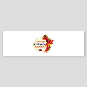 Finnish Girlfriend Valentine design Sticker (Bumpe