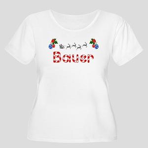 Bauer, Christmas Women's Plus Size Scoop Neck T-Sh