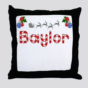 Baylor, Christmas Throw Pillow