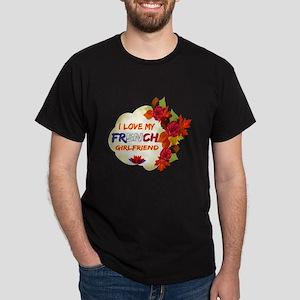 French Girlfriend Valentine design Dark T-Shirt