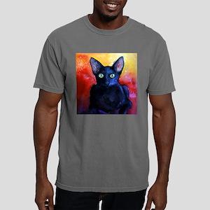 black cat 4 pin.png Mens Comfort Colors Shirt