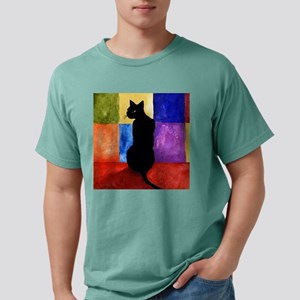 black cat 3 pin Mens Comfort Colors Shirt