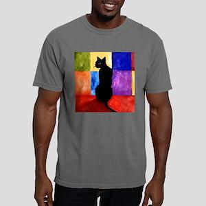 black cat 3 pin.png Mens Comfort Colors Shirt