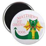 Matthew's 1st Christmas 2005 Magnet