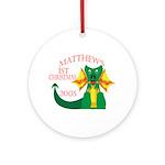 Matthew's 1st Christmas 2005 Ornament (Round)