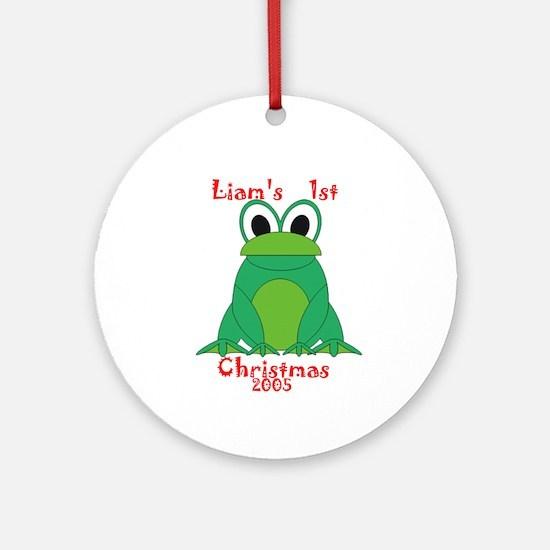 Liam's 1st Christmas 2005 Ornament (Round)