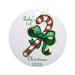 Baby's First Christmas 2005 Ornament (Round)