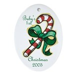 Baby's First Christmas 2005 Oval Ornament