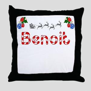 Benoit, Christmas Throw Pillow