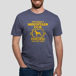4-Mountain-Cur Mens Tri-blend T-Shirt